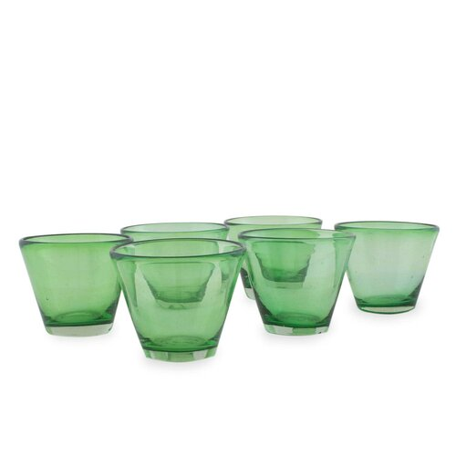 The Javier and Efren Handblown Recycled Juice Glass (Set of 6)