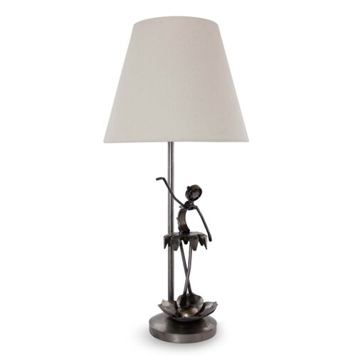 "Novica The Armando Ramirez 16.5"" H Dainty Ballerina Recycled Metal Table Lamp"