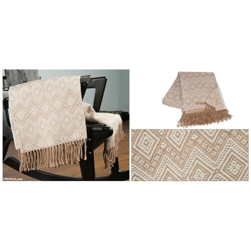 Novica The Jorge Prior Acrylic and Alpaca Throw Blanket