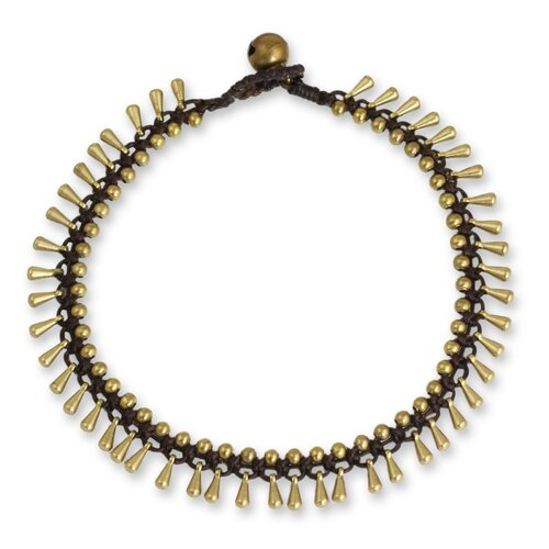 The Tiraphan Hasub Brass Beaded Anklet Bracelet