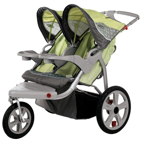 InSTEP Safari Swivel Wheel Double Stroller