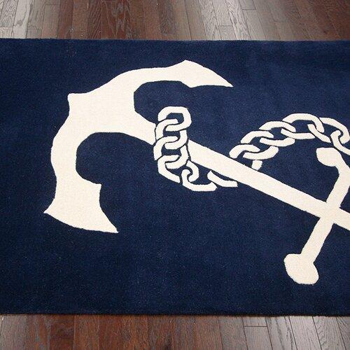 Anchor Bathroom Rug: NuLOOM Moderna Navy Area Rug & Reviews