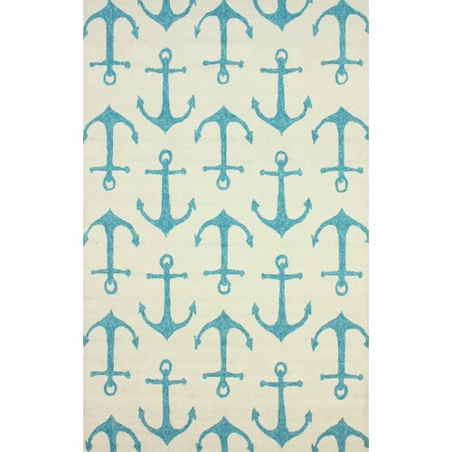 Air Libre White Ahoy Indoor/Outdoor Rug