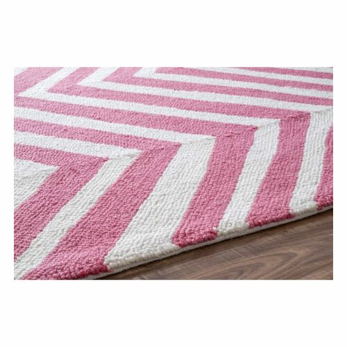 NuLOOM Trellis Pink Chevron Area Rug & Reviews