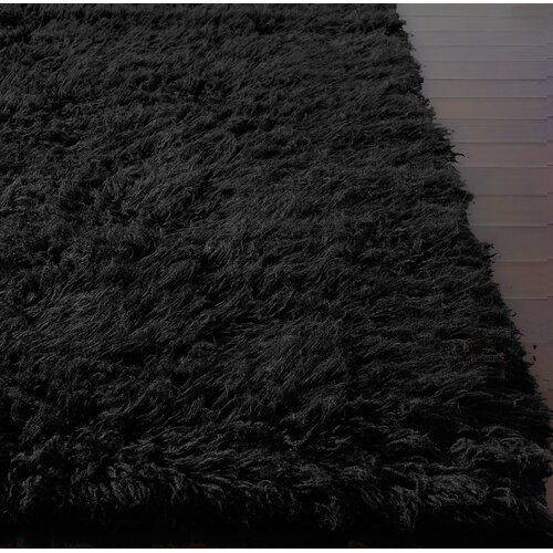 Nuloom Flokati Black Area Rug Amp Reviews Wayfair