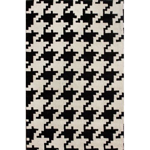 Nuloom Magnifique Houndstooth Black Amp White Area Rug