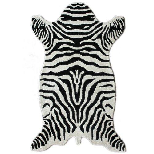 Safari Zebra White Rug