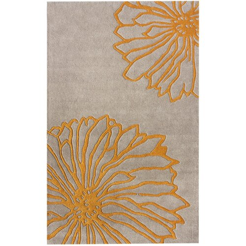 Gradient Yellow Floral Rug