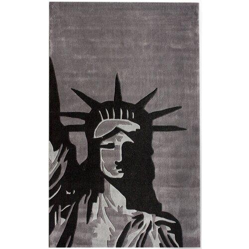Cine Statue Of Liberty Grey Novelty Rug