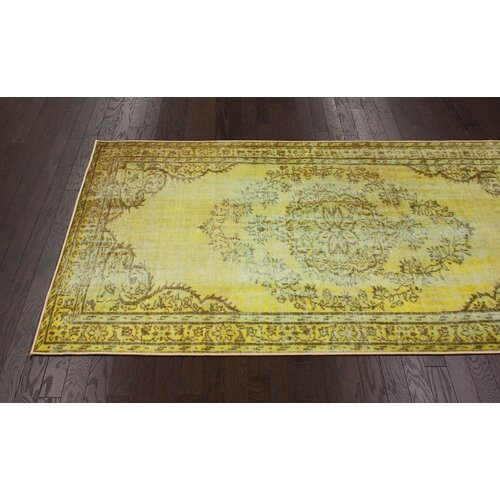 Nuloom Remade Distressed Overdyed Turquoise Area Rug: NuLOOM Remade Distressed Overdyed Funky Yellow Area Rug