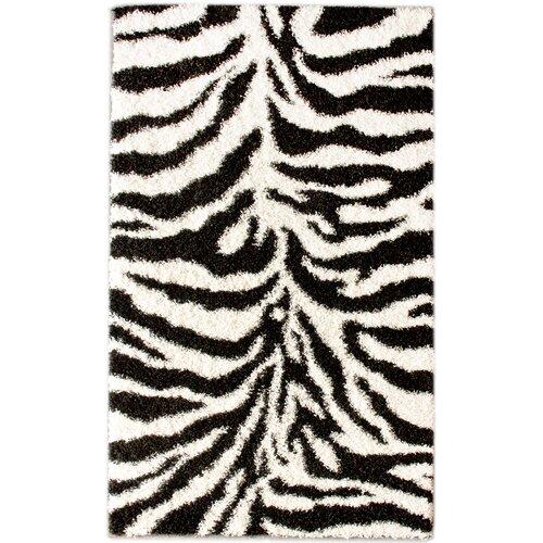 Zebra Rug Wayfair: NuLOOM Shaggy Zebra Black/White Area Rug & Reviews