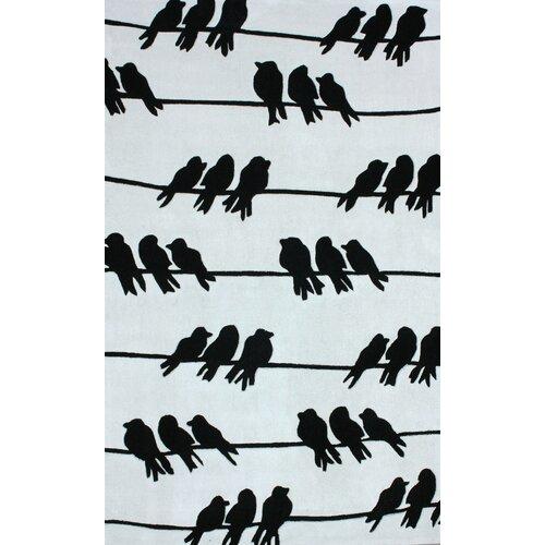 Cine Light Grey Birds On A Wire Novelty Rug