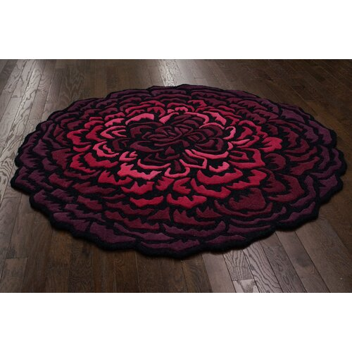 nuLOOM Modella Purple Multi Blooming Mum Rug