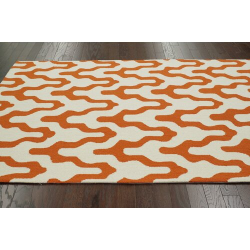 nuLOOM Trellis Orange Rhonda Rug
