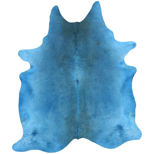 nuLOOM Natura Blue Cow Hide Rug