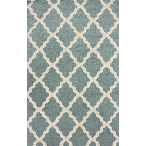 Moderna Spa Blue Marrakech Trellis Rug