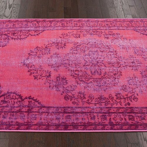 Nuloom Remade Distressed Overdyed Pink Area Rug Amp Reviews