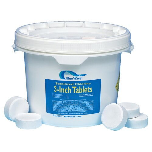 """Blue Wave Products 3"""" Chlorine Tablets 10 lbs"""