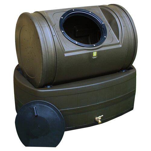 Good Ideas Compost Wizard Hybrid 7 Cu. Ft. Tumbler Composter and 47 Gallon Rain Barrel