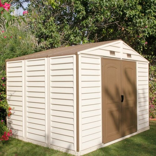Woodside 10 1 2 Ft W X 8ft D Vinyl Storage Shed Wayfair