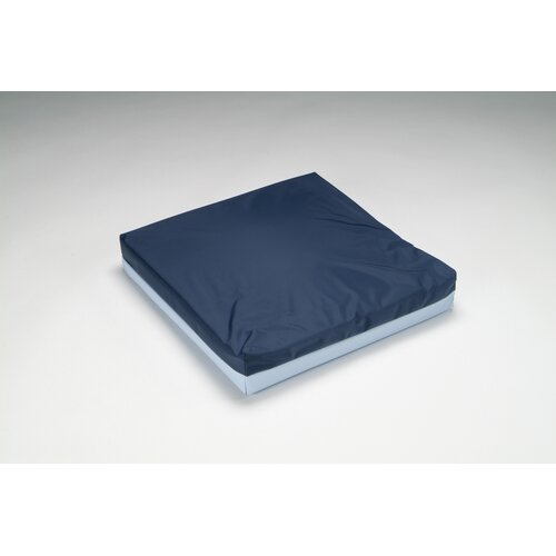 Hermell Softeze Total Comfort Poly-Filled Full Wheelchair Cushion with Blue Polycotton / Rip-Stop