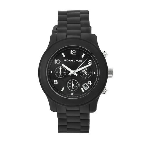 Women's Classic Black Rubber Watch