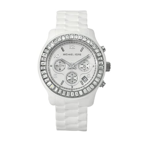 Michael Kors Women's White Silicone Watch