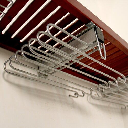 "John Louis Inc. 12"" Side Load Pant Rack in Satin Nickel"