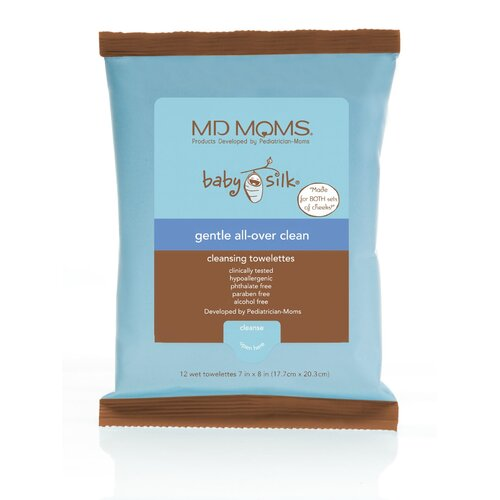 MD Moms Gentle All-Over Clean Cleansing Towelette Travel Pouch