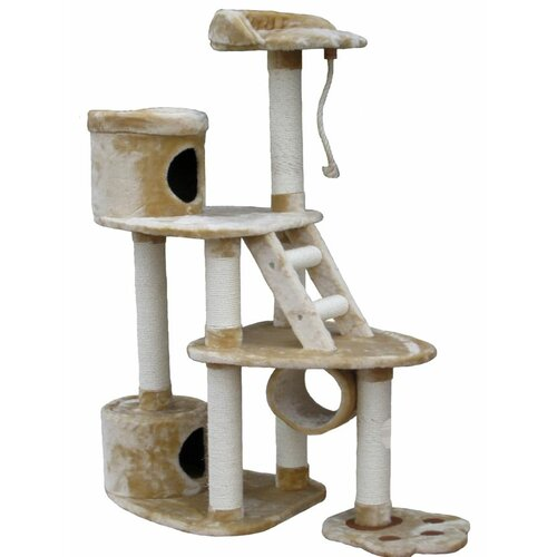 "Go Pet Club 59"" Cat Tree in Beige"