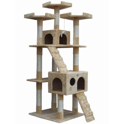 "Go Pet Club 72"" Cat Tree Condo House"