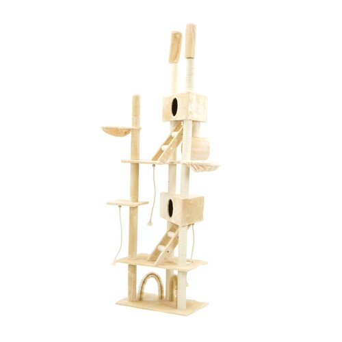 Go Pet Club Huge 5-Level Cat Cat Gym in Beige