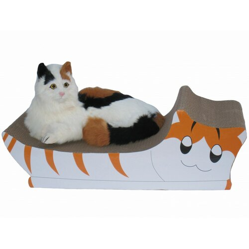 Kitten Shaped Lounge Recycled Paper Cat Scratching Board