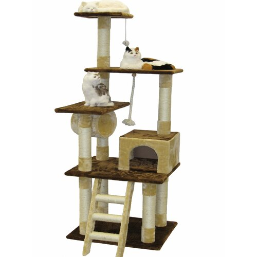 "Go Pet Club 67"" Condo House Cat Tree"