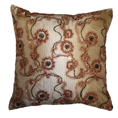 Crown Embroidered Sequins Decorative Throw Pillow