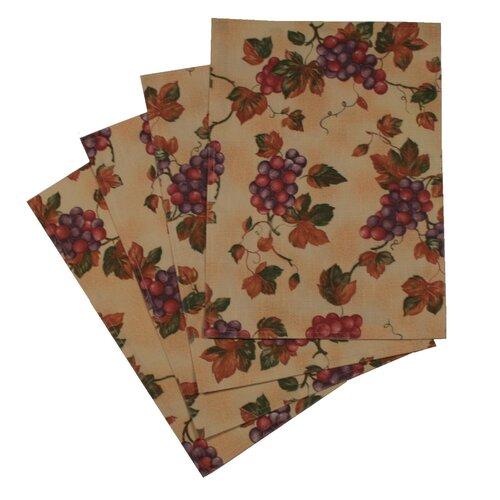 Violet Linen European Vinyard Design Placemat