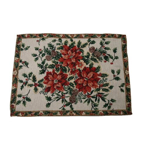 Violet Linen Seasonal Leaves Designs Placemat