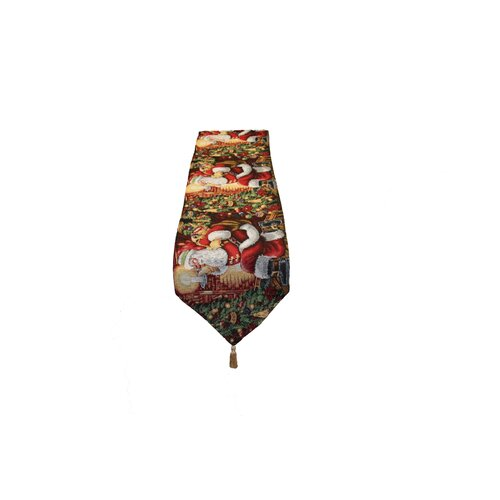 Seasonal Santa Claus Design Table Runner