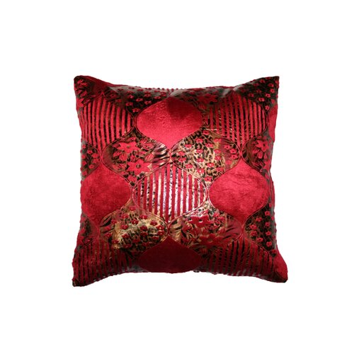 Velvet Fleur Design Decorative Throw Pillow