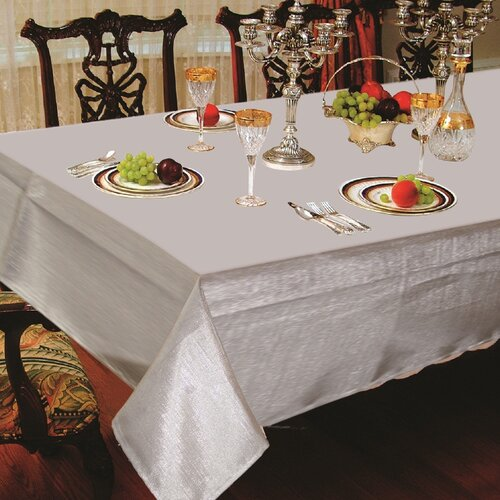 Violet Linen Solid Liner Design Oblong / Rectangle Tablecloth