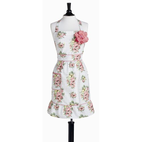 Gingham Floral Bib Courtney Apron