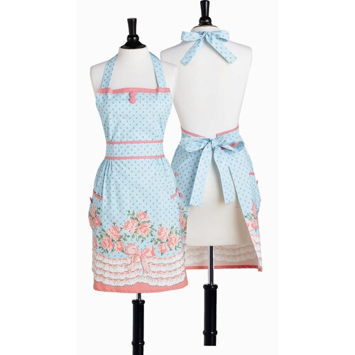 Bows and Roses Bib Doris Apron