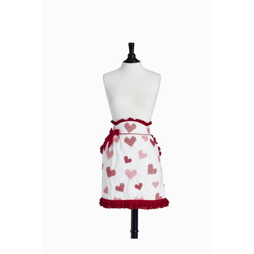Cross Stitch Hearts Half June Apron