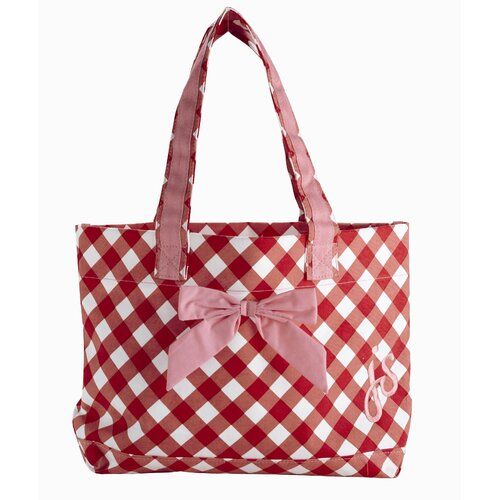 Violet Linen Giant Gingham Red Tote Bag