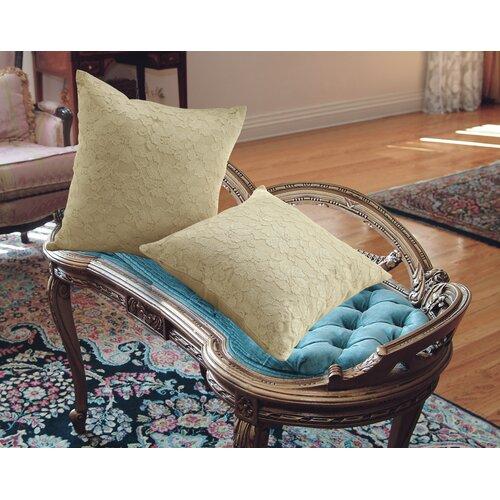 Violet Linen Chantilly Lace Decorative Throw Pillow