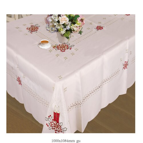Violet Linen Seasonal Candles Tablecloth