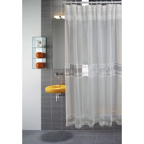 Treasure Macrma Lace Shower Curtain