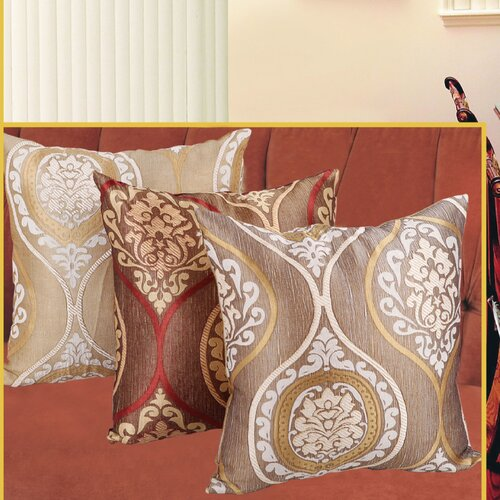 Violet Linen Milano Arts Jacquard Decorative Cushion Cover