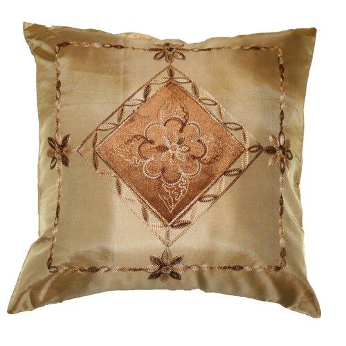 Silky Indiana Embroidered Velvet Diamond Decorative Throw Pillow