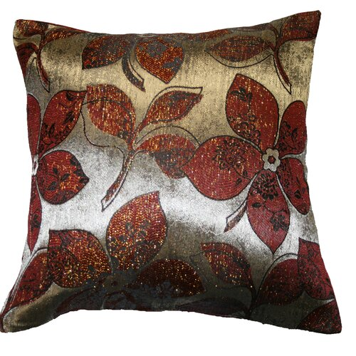 Violet Linen Signature Jacquard Lily Throw Pillow